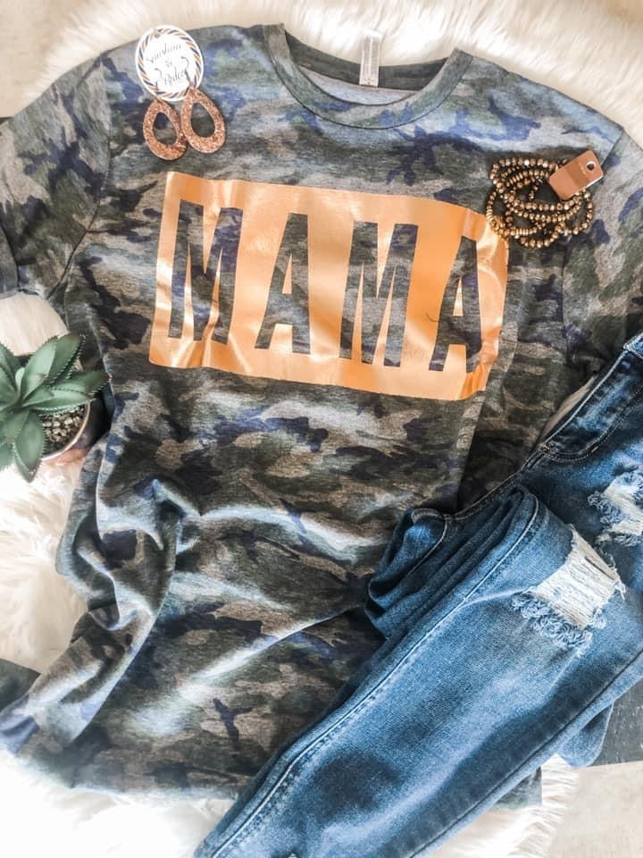 Mama Camo Tee - This & That Boutique Shop