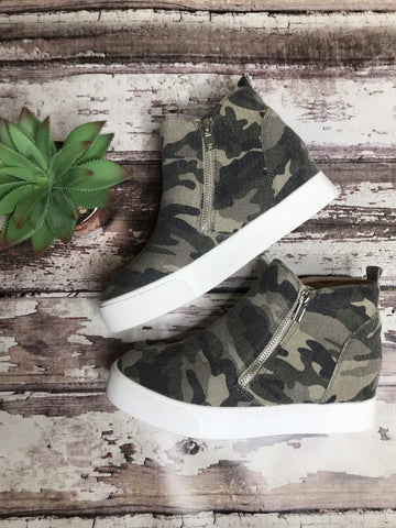 Camouflage Zip Booties - This & That Boutique Shop