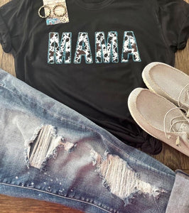 Cow Print Mama Tee - This & That Boutique Shop