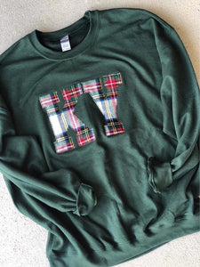 Green State Sweatshirt (ANY STATE AVAILABLE) (PRE-ORDER) - This & That Boutique Shop