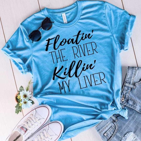 Floatin The River Tee (PRE-ORDER) - This & That Boutique Shop