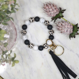 Leopard & Black Keychain - This & That Boutique Shop
