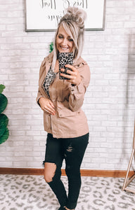 Beige Jacket - This & That Boutique Shop