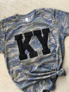 KY Camo Tee (ANY STATE) (PRE-ORDER) - This & That Boutique Shop