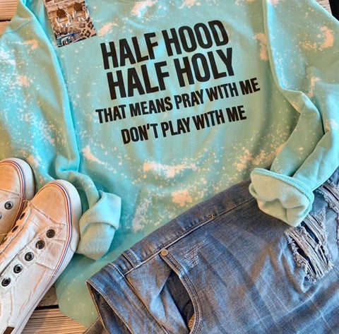 Half Hood Half Holy Sweater - This & That Boutique Shop
