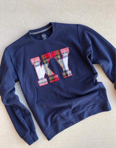 Navy State Sweatshirt (ANY STATE AVAILABLE) (PRE-ORDER) - This & That Boutique Shop