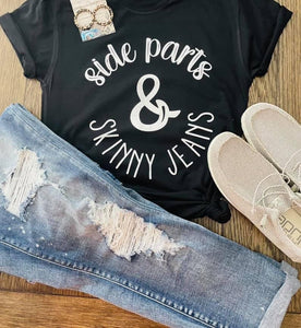 Side Part & Skinny Jeans - This & That Boutique Shop