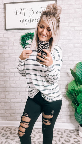 Striped Getaway Top - This & That Boutique Shop