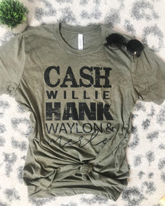 Cash, Willie, Hank Tee (PRE-ORDER) - This & That Boutique Shop