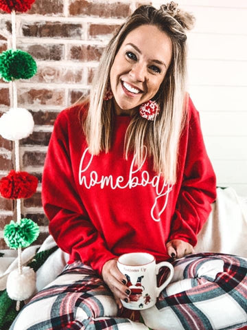 Red Homebody Sweatshirt - This & That Boutique Shop