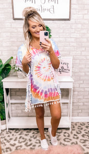 Tye-Dye Swim Coverup - This & That Boutique Shop
