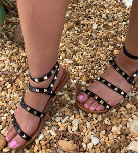 Black Rhinestone Sandals - This & That Boutique Shop