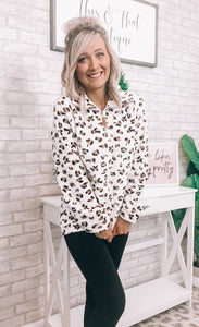Leopard Sherpa Pullover - This & That Boutique Shop