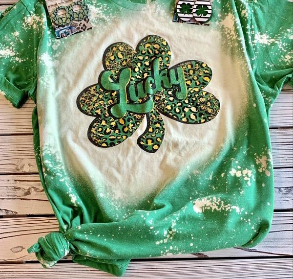 Lucky Bleached Tees - This & That Boutique Shop