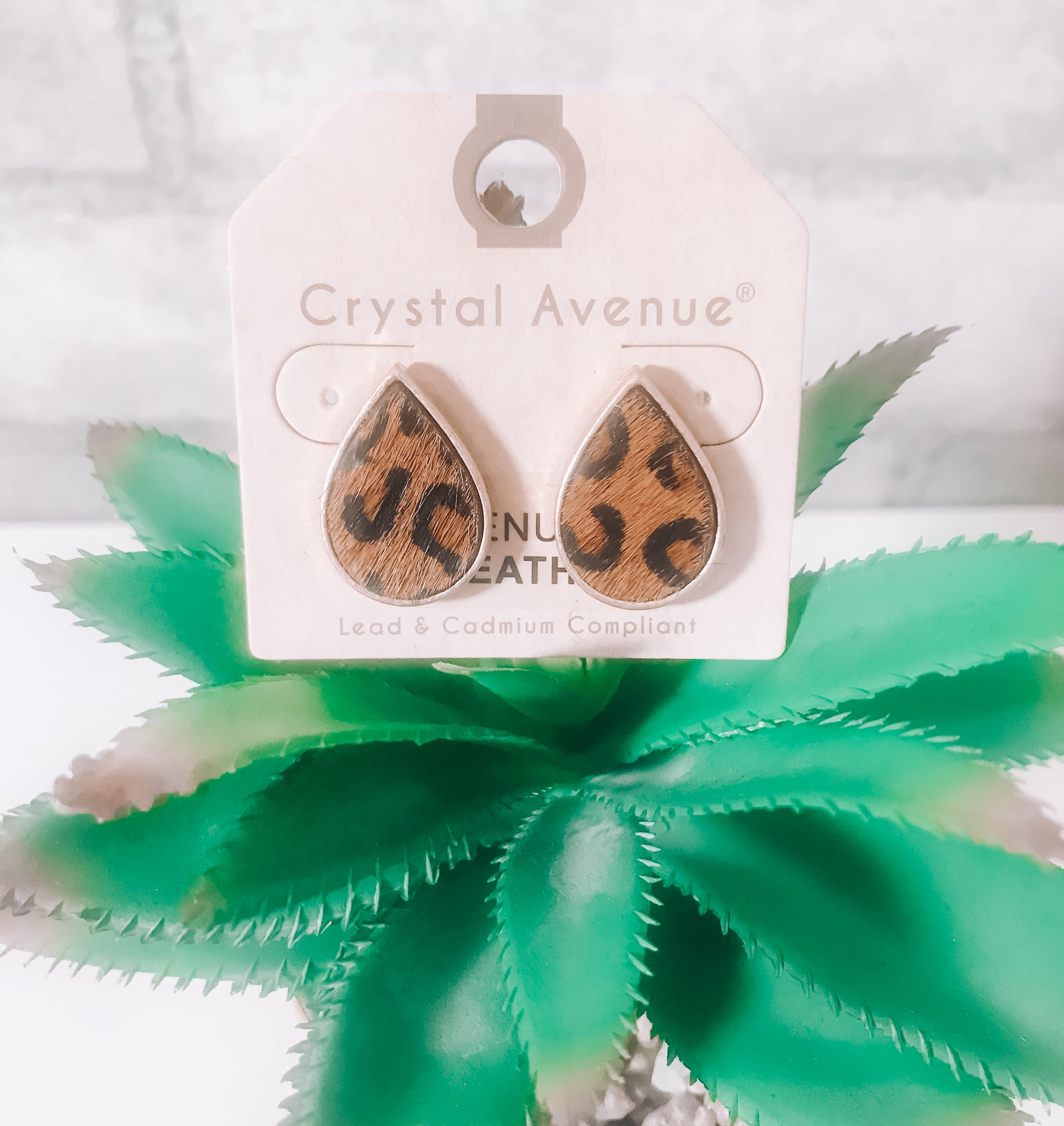 Tear Drop Leopard Studs - This & That Boutique Shop