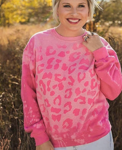 Pink Leopard Sweater - This & That Boutique Shop