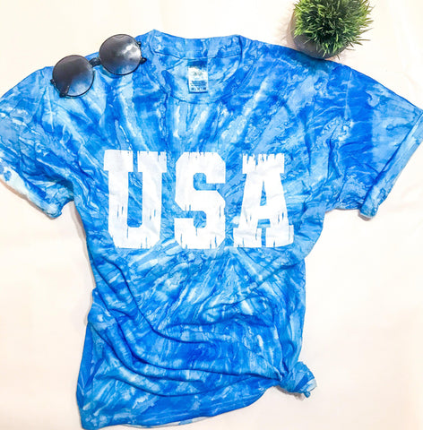 USA Tye Dye Tee (PRE-ORDER) - This & That Boutique Shop