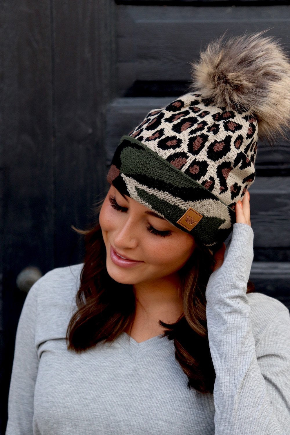 Camo & Leopard Beanie - This & That Boutique Shop