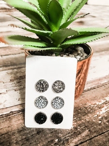 Druzy and Leopard Stud Set - This & That Boutique Shop