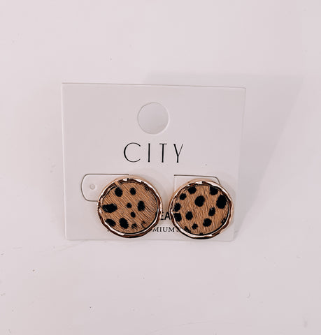 Cheetah Stud Earrings - This & That Boutique Shop