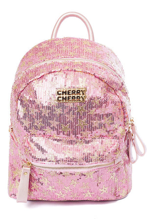 Eleanor Star Sequin Backpack - Cherry Cherry
