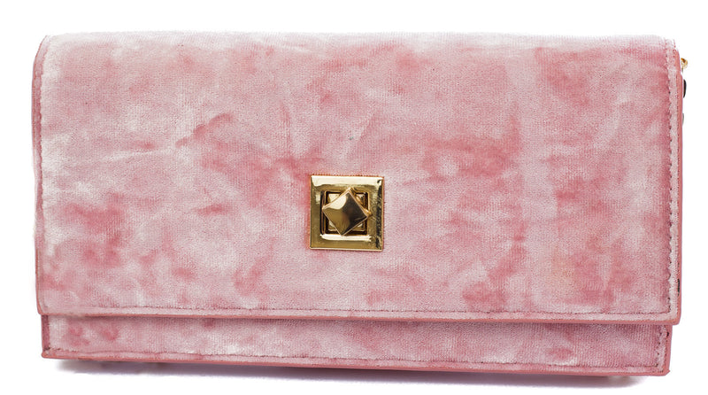 Chloe Velvet Clutch Purse - Cherry Cherry