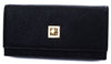 Shelley Black textured clutch purse with chain - Cherry Cherry