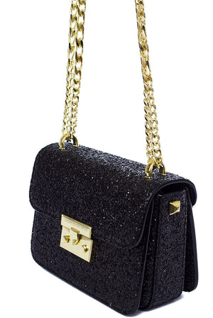 Jessica Glitter Classic Cross Over Bag - Cherry Cherry