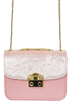 Chantelle Velvet Cross Over Bag - Cherry Cherry