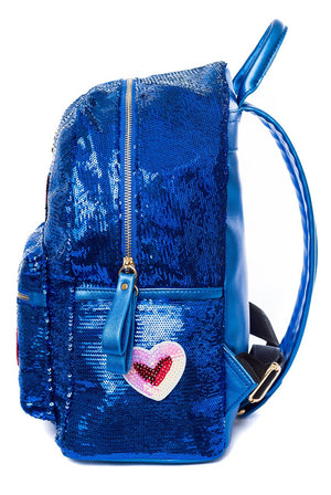 Sophia Sequin Backpack - Cherry Cherry