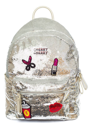 Olivia Sequin Backpack - Cherry Cherry