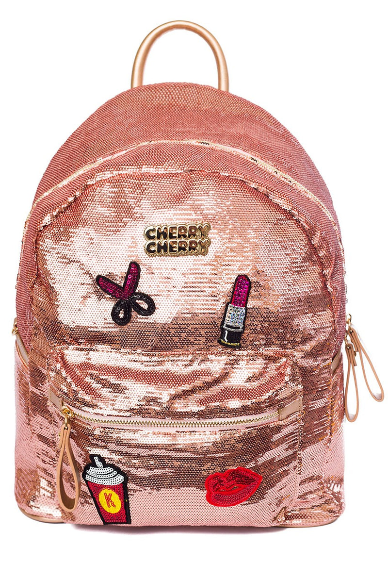 Jasmine Sequin Backpack - Cherry Cherry