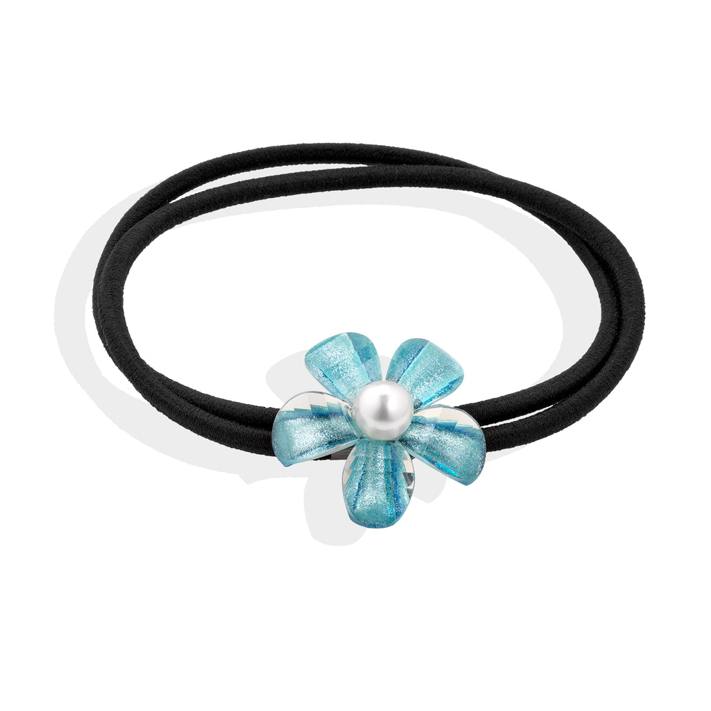 Sea Breeze Blue hair bobble - Cherry Cherry