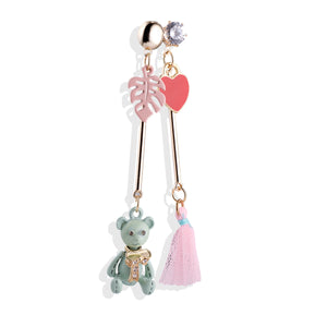 Baby Bear Miss Match Earrings - Cherry Cherry
