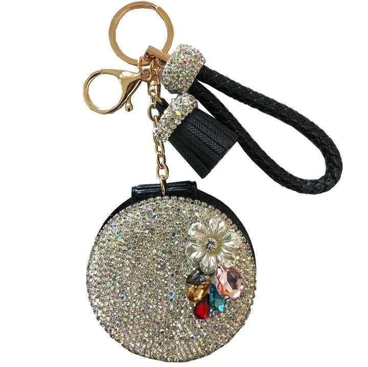 Black Glam Mirror Key Charm - Cherry Cherry