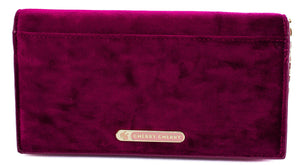 Mica Velvet Clutch Purse - Cherry Cherry