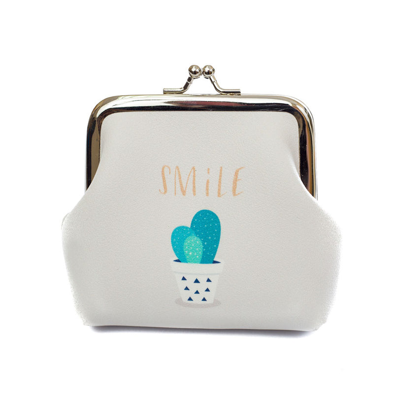 Smile Cactus Coin Purse - Cherry Cherry