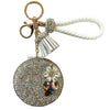 White Glam Mirror Key Charm