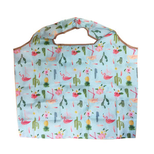 Mixed Print Floral Fold Out Shopper Bag - Cherry Cherry