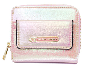 Ashleigh Pearl Metallic Purse - Cherry Cherry