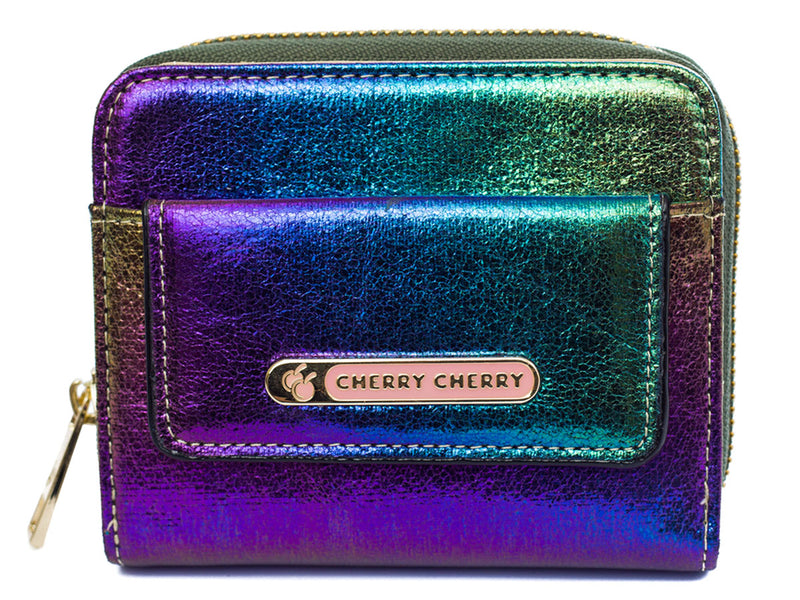 Kelly Mermaid Shiny Metallic Purse - Cherry Cherry