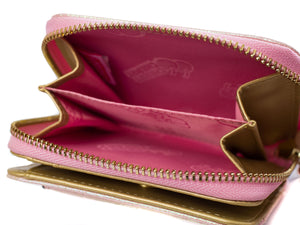 Ashleigh pearl pink Metallic purse - Cherry Cherry