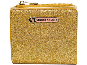 Lynne Glitter Gold Star Wallet - Cherry Cherry