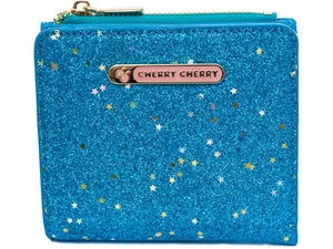 Linda Glitter Blue Star wallet - Cherry Cherry