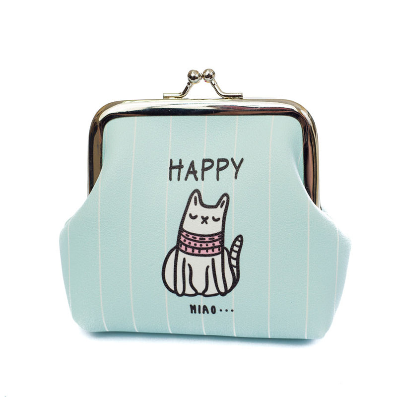 Happy Miao Cat Coin purse - Cherry Cherry