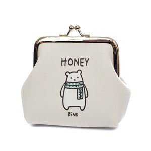 Honey Bear Coin Purse - Cherry Cherry