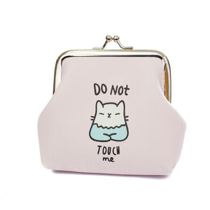 Do Not Touch Me Cat Coin Purse - Cherry Cherry