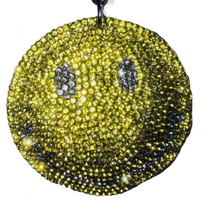 Smiling Sparkly Key Charm