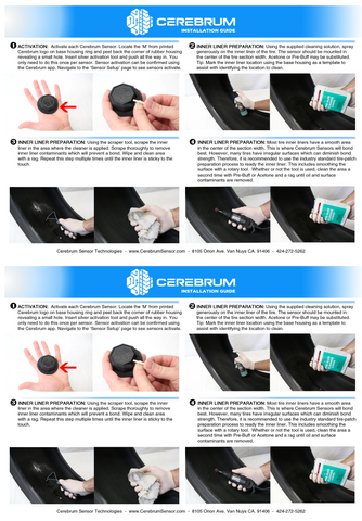 Cerebrum Tire Sensor Installation Guide