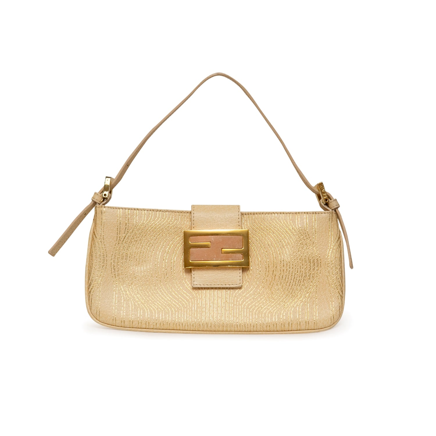 Fendi Leather Mini Baguette